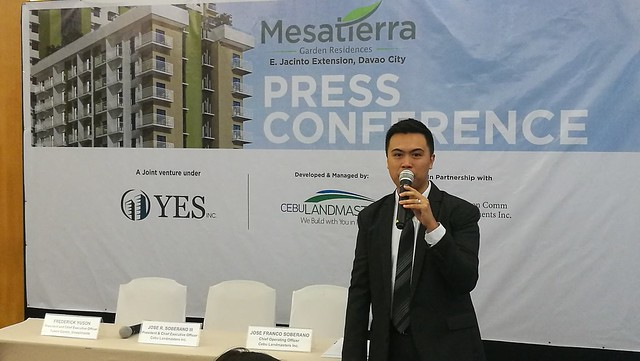DavaoLife.com | Jose Franco Soberano Senior VP & COO of Cebu LandMasters Inc - Welcome Home to MesaTierra Garden Residences in Progressive Davao City