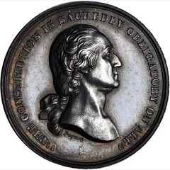 1861 U.S. Mint Oath of Allegiance Medal obverse