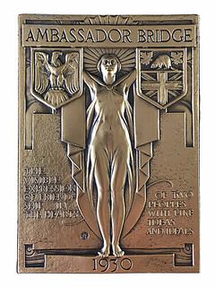 Ambassador Bridge plaquette