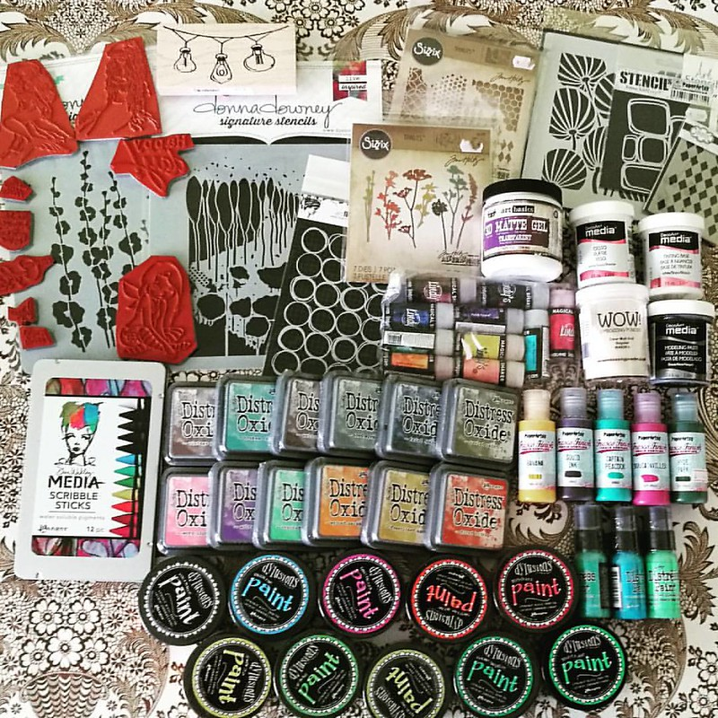 The loot from Art Specially this weekend. gosh, I am glad it's only once a year! #crafthaul #craftyendeavors #craftsupplies #artsupplies #theloot #spoils