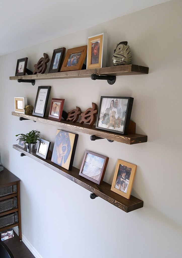 Plumbing Pipe Open Shelving DIY