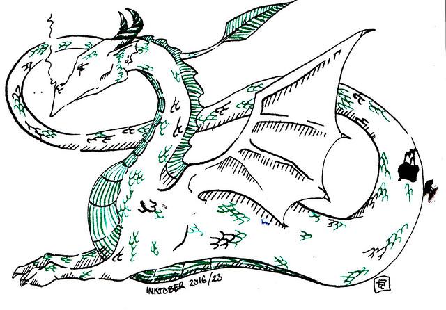 Inktober 2016: Testing Dragon / Hedgefairy Tales