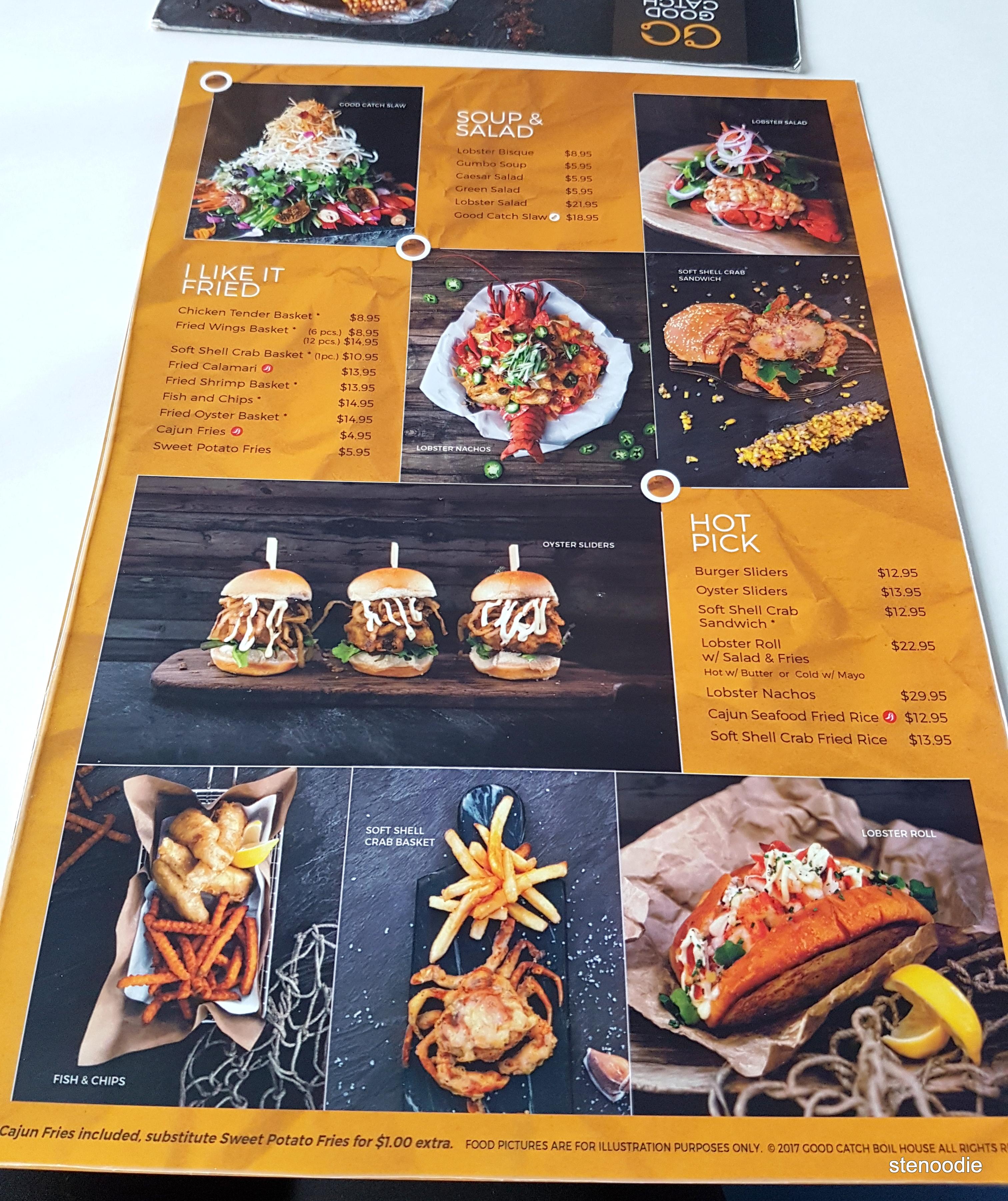 Good Catch Boil House menu