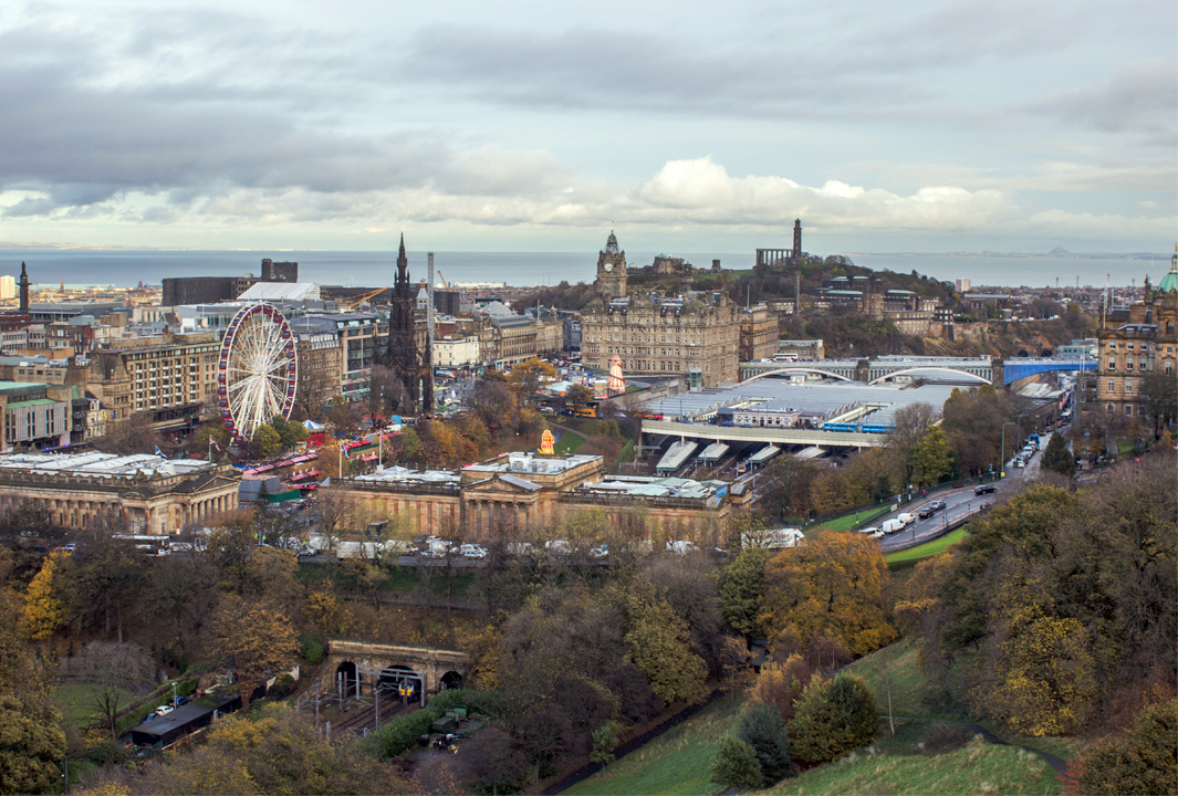 View over Edinburgh from Edinburgh castle,
