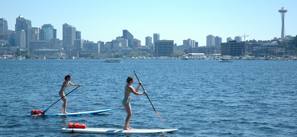 First Time Out For Two Women Stand Up Paddle Boarding On Flickr
