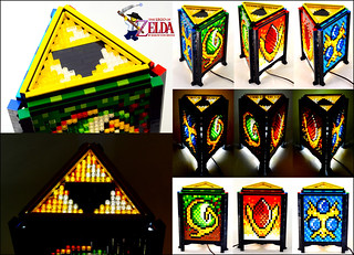Mosaic LEGO Legend of Zelda Spiritual Stone Lamp (main photo) | by Baron Julius von Brunk