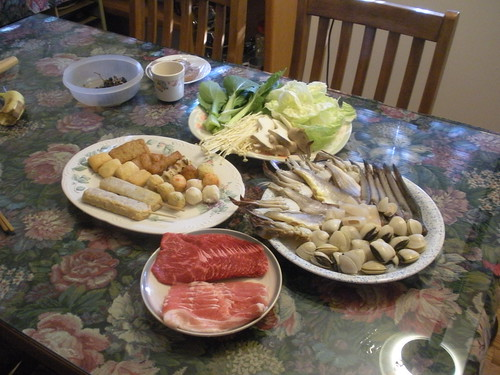 parents' 30th anniversary - hot pot ingredients | by ixfd64