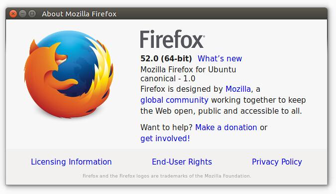 Новшества и преимущества Firefox 52