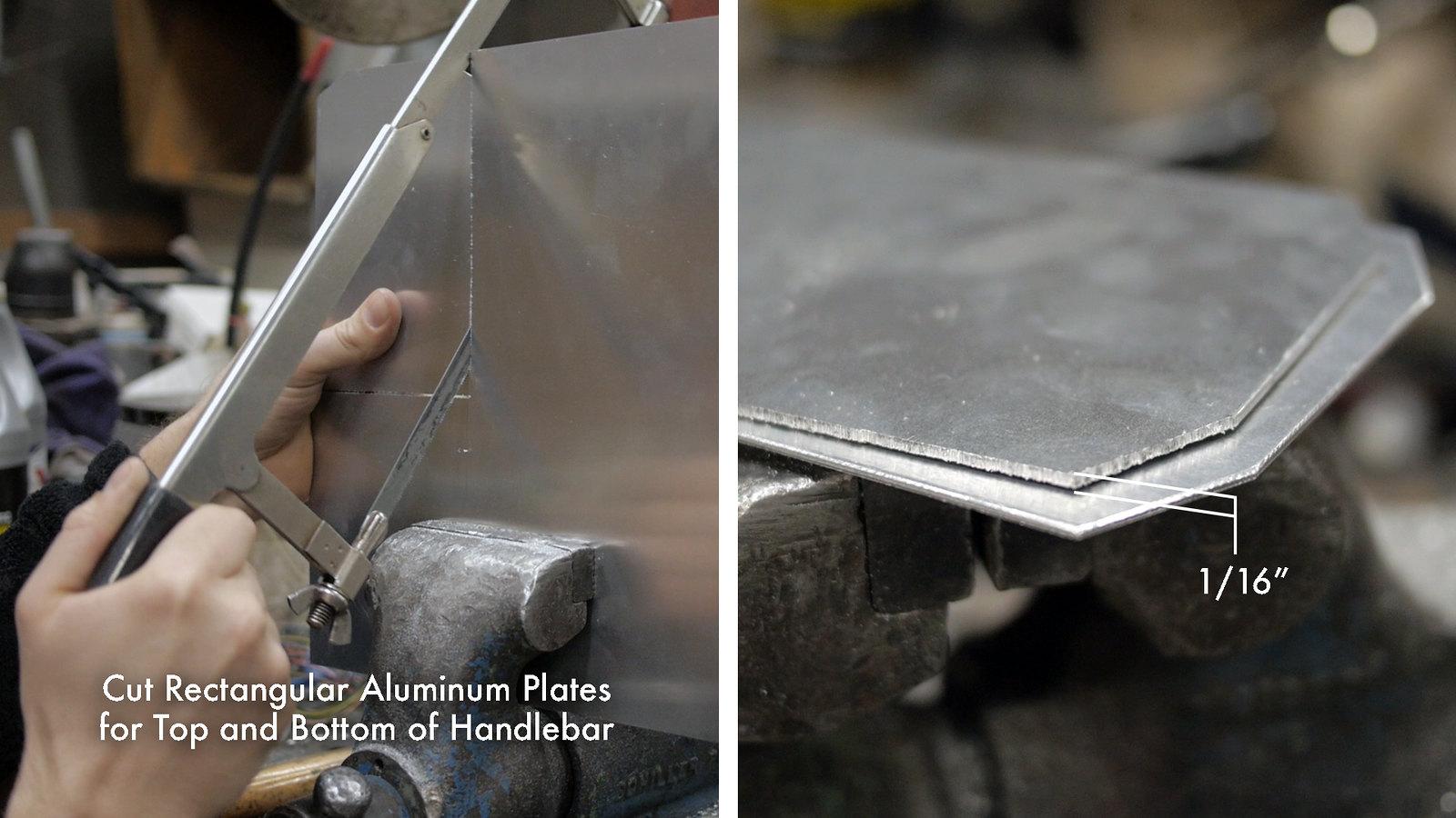 Cut Aluminum Plates for Handlebar