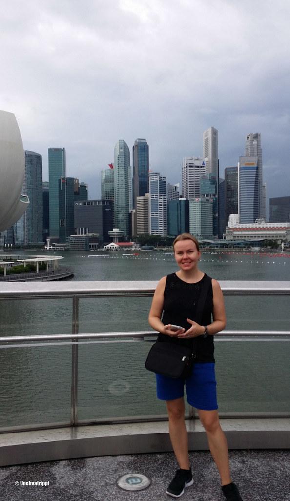 Jenni Singaporen keskustassa