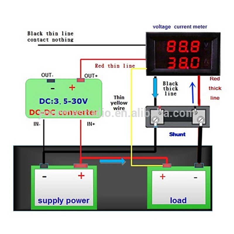 voltmeter and ammeter 5 wires using shunt wiring diagram. Black Bedroom Furniture Sets. Home Design Ideas