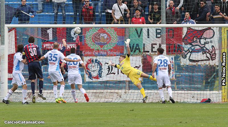 Un'azione di Vibonese-Catania della stagione 2016/17
