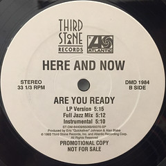 HERE AND NOW:ARE YOU READY(LABEL SIDE-B)