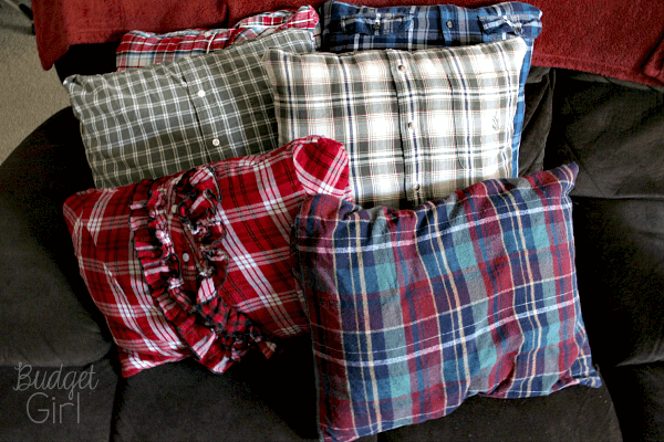 My only complaint is that I feel the ruffled one looks a little out of place. I used a too-small girl\u0027s shirt for that one and honestly I\u0027ll probably wind ... & DIY Pillow Covers from Old Shirts - Tastefully Eclectic pillowsntoast.com