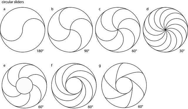 Circular slider patterns
