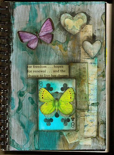 Art Journal Page: Her Dreams