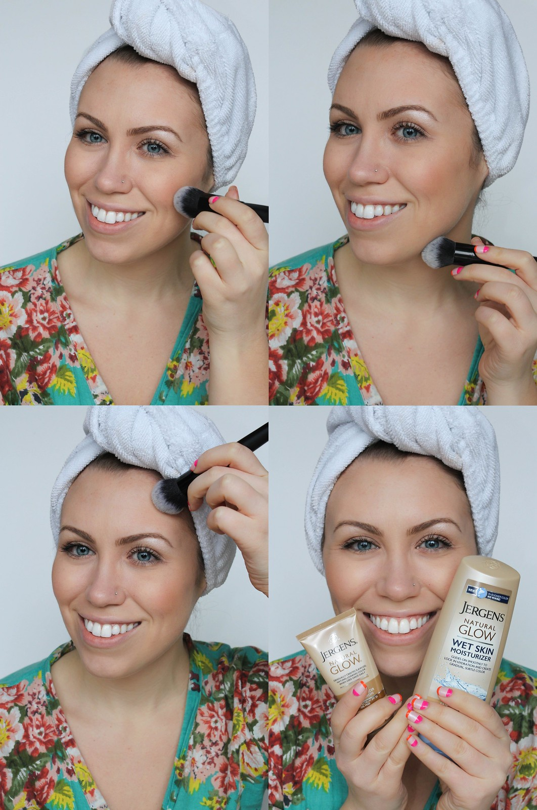 How to Apply Jergens Natural Glow Face Daily Moisturizer and Wet Skin Moisturizer