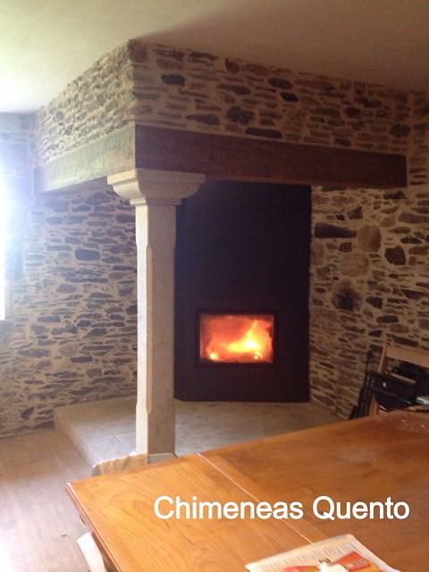 Chimenea quento en lareira con termogar de rocal flickr - Chimeneas quento ...