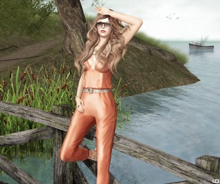 Baiastice_Sophia jumpsuit-orange JD Lacey Platform & IeQed | by Lila Quander