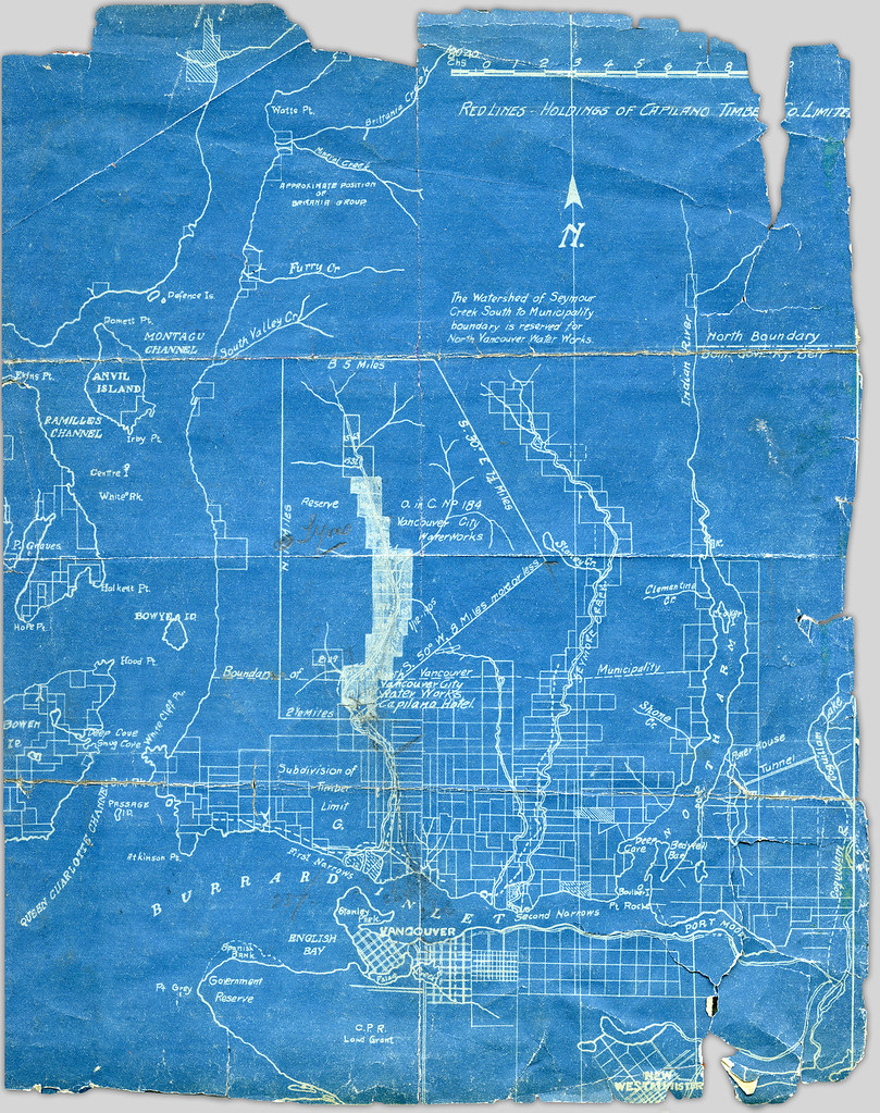 Blueprint map showing holdings of capilano timber co limi flickr blueprint map showing holdings of capilano timber co limited by ubc library digitization centre malvernweather Image collections