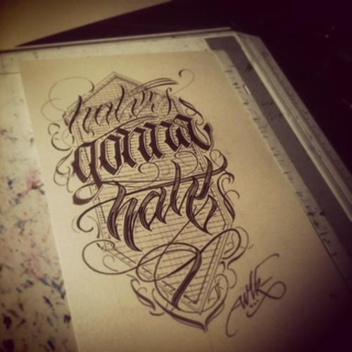 haters gonna hate wlk calligraphy lettering thedailyt flickr. Black Bedroom Furniture Sets. Home Design Ideas