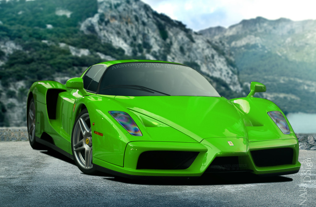 Ferrari Enzo Verde Kers Lucido Www Flickr Com Photos