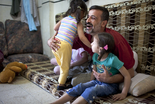 Waheed plays with his daughter Alaa | by World Bank Photo Collection