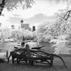 Sitting at the bench - Konica IR 750nm Infrared