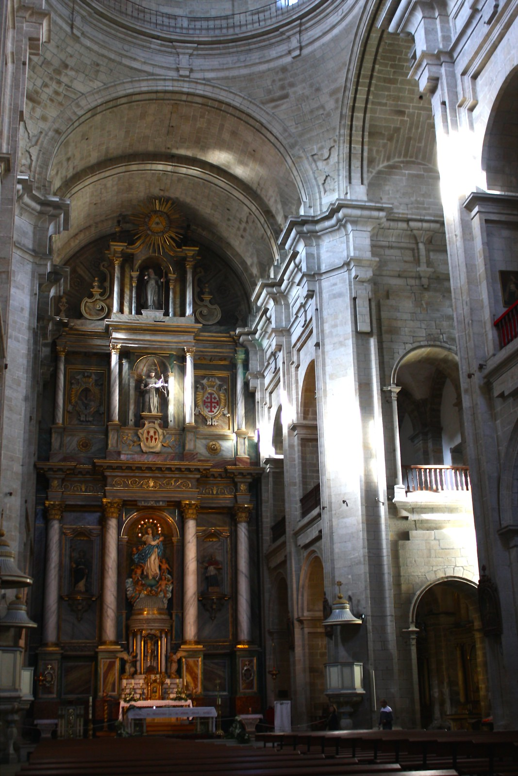 Interior nave of the Church of San Francisco, Santiago de Compostela, Spain