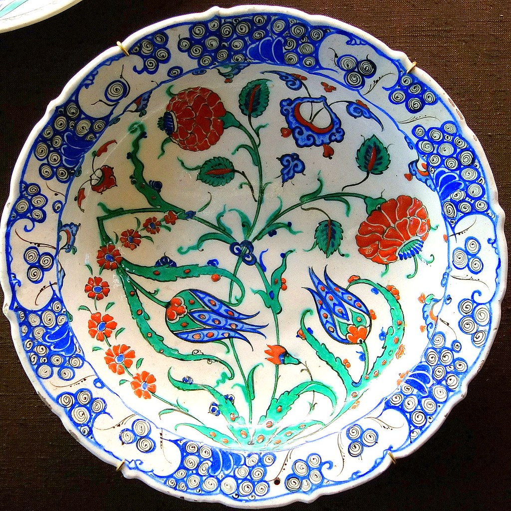 N 176 4 Izmik Ceramique Faience Ceramic Porcelaine Pottery Til
