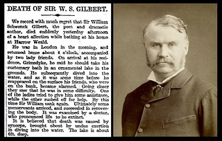 29th May 1911 - Death of Sir W. S. Gilbert | by Bradford Timeline