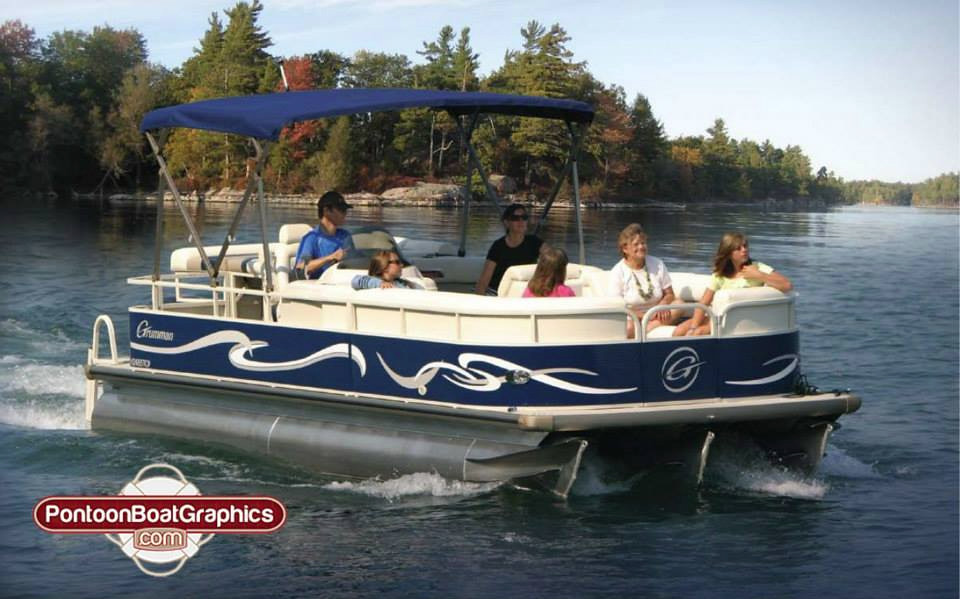Pontoon Boat Graphics Pontoon Boat Striping Vinyl Decals