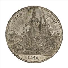 1846 Free Trade Anti-Corn Law Medal obverse
