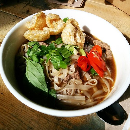It's cold up north and this beef noodle soup from Ting Thai Caravan hit the spot yesterday.