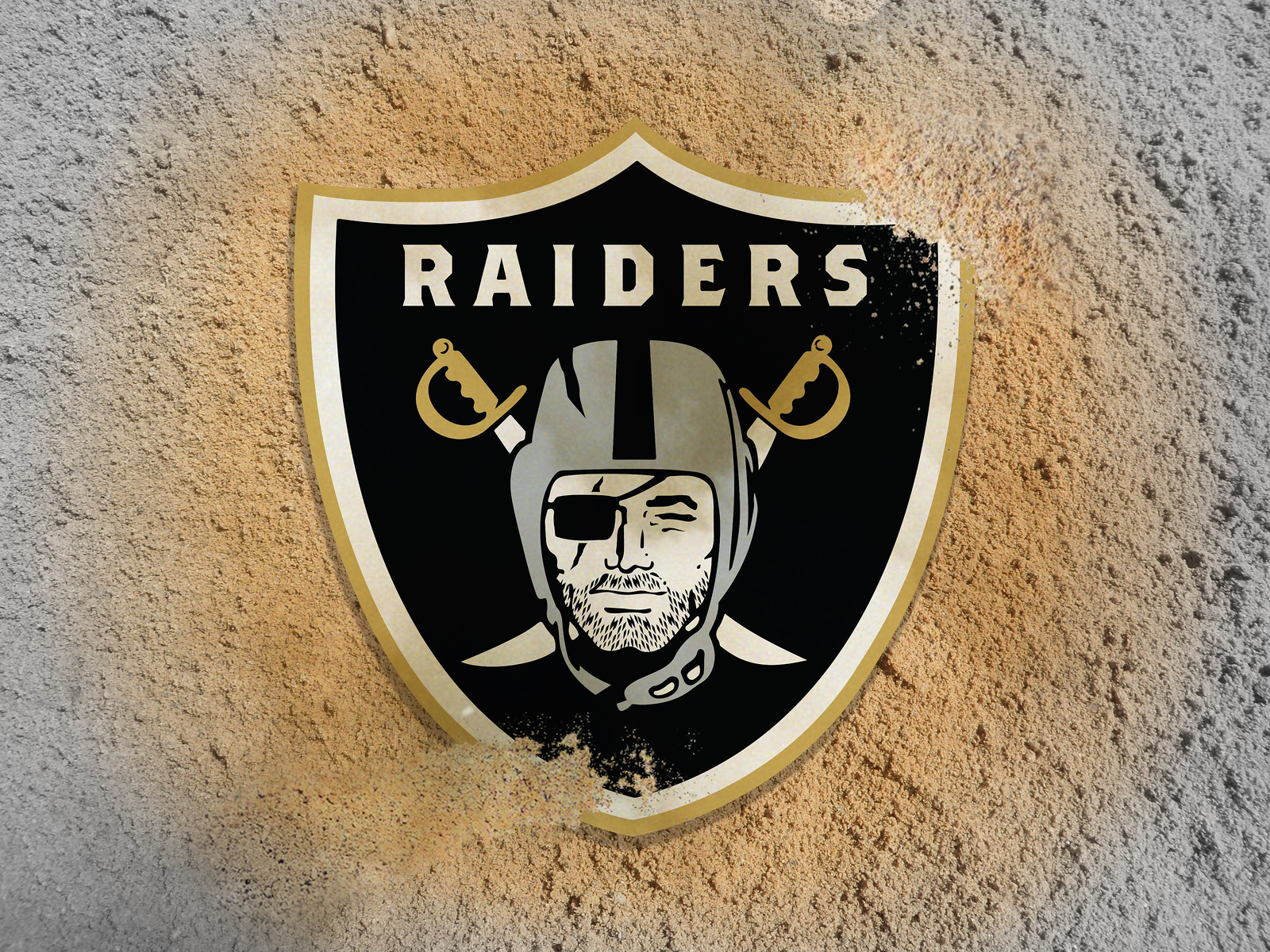87e063e8037 Bryan Phillips gave the Raiders  logo some tasteful gold trim and added an  interesting detail  ...
