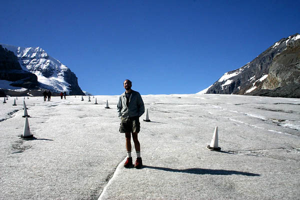 Jasper - Athabasca Glacier - me on it 2