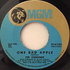 THE OSMONDS:ONE BAD APPLE(LABEL SIDE-A)
