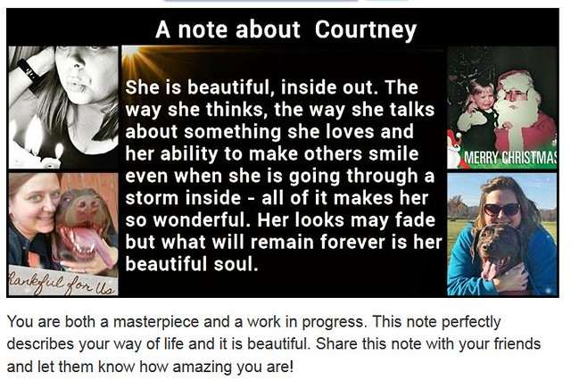 a note about courtney