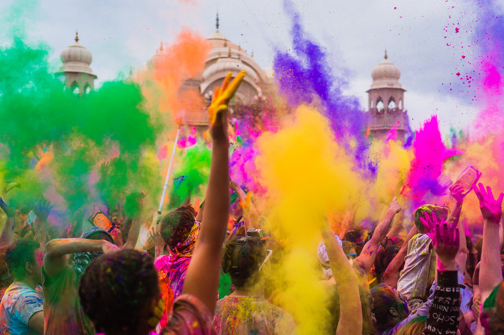 Holi, India. world's largest festivals