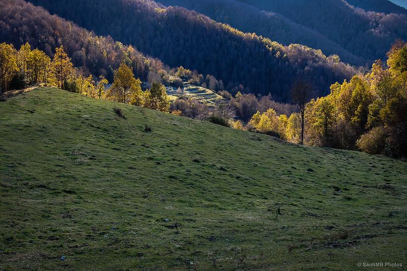 Los colores del otoño desde Sant Bartomeu de Covildases