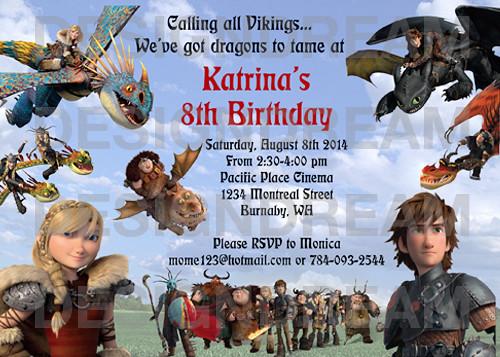 How To Train Your Dragon 2 Custom Birthday Invitation Flickr