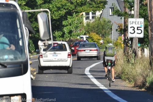 N Willamette Blvd bike lanes-6