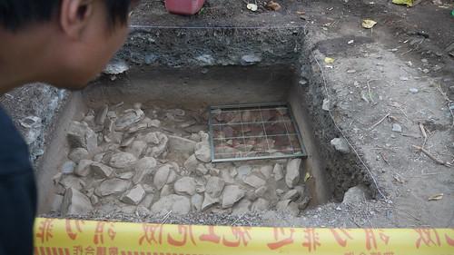 中研院在金崙段開挖的考古遺址之一
