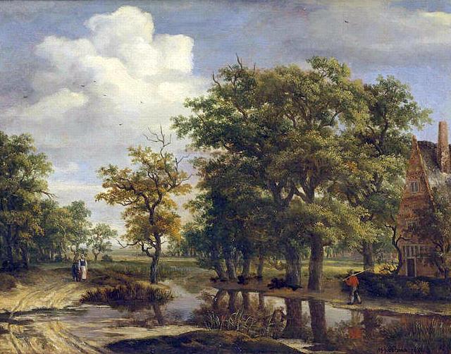 Meindert hobbema mus e de grenoble mg 81 paysage 1659 for Agence paysage grenoble