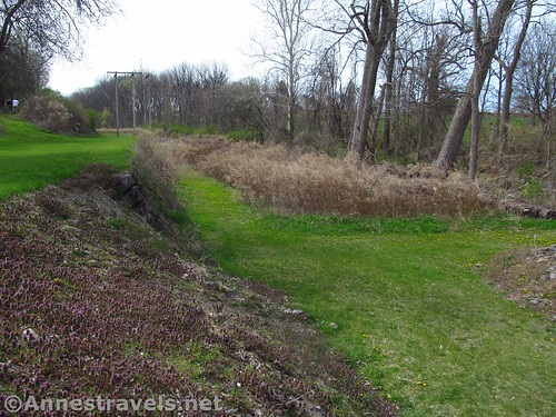 Nearby ditch that was once part of the Erie Canal System near Lock 60 Historic Park near Macedon and Palmyra, New York
