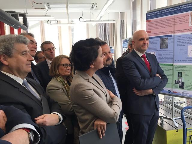 Visite inaugurale du bâtiment Sophie Germain sur le campus LyonTech La Doua, Insa de Lyon