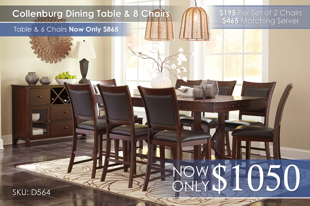 Collenburg Dining Set w8 Chairs D564-32-124(8)-60-R4400151