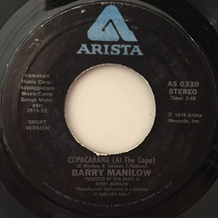 BARRY MANILOW:COPACABANA(AT THE COPA)(LABEL SIDE-A)