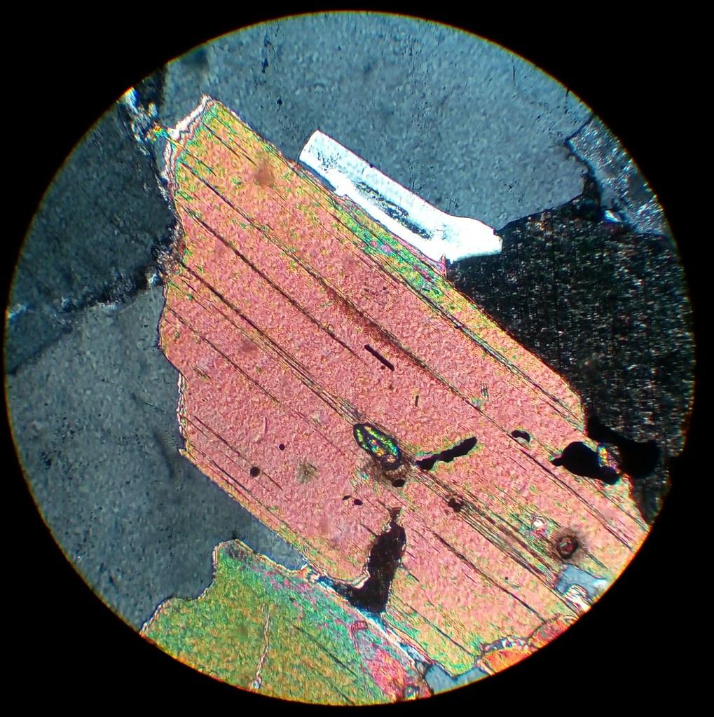 Biotite with zircon in...