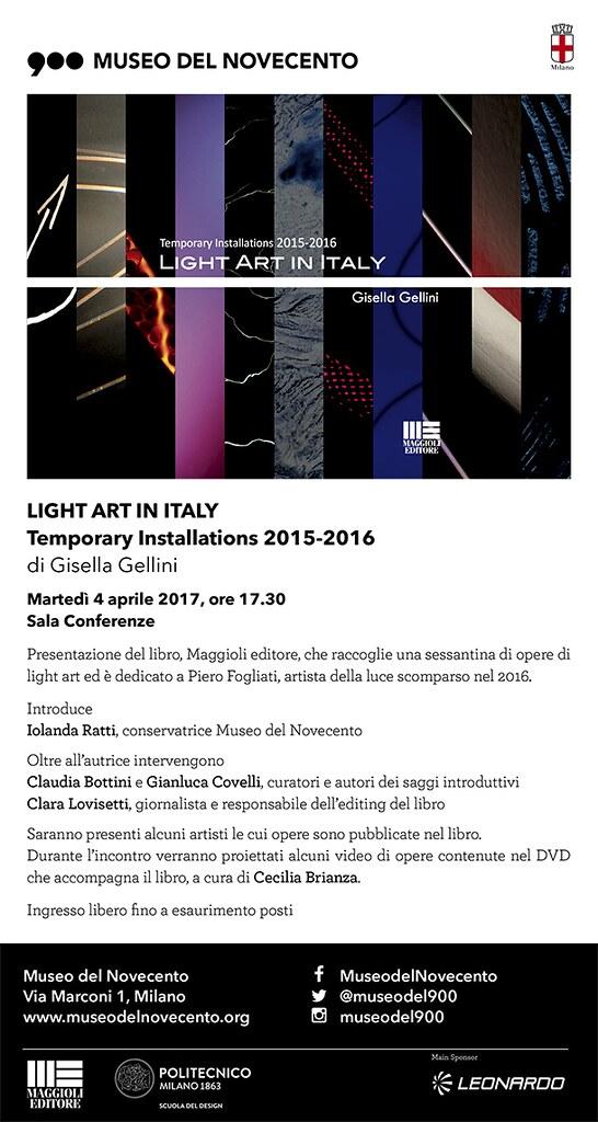 Light Art in Italy - Presentazione del libro al Museo del Novecento